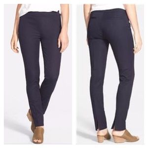 Eileen Fisher Stretch Cotton Twill Slim Ankle Pant
